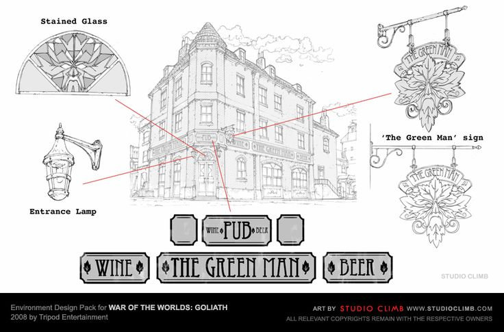 Environment Design Pack for War Of The Worlds: Goliath --- The Green Man pub