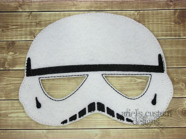Star Wars Mask - Star Wars Costume - Storm Trooper Mask - Star Wars Party  -Felt Dress Up Masks - Birthday Party Favor Halloween by ArielsCustomDesigns on Etsy