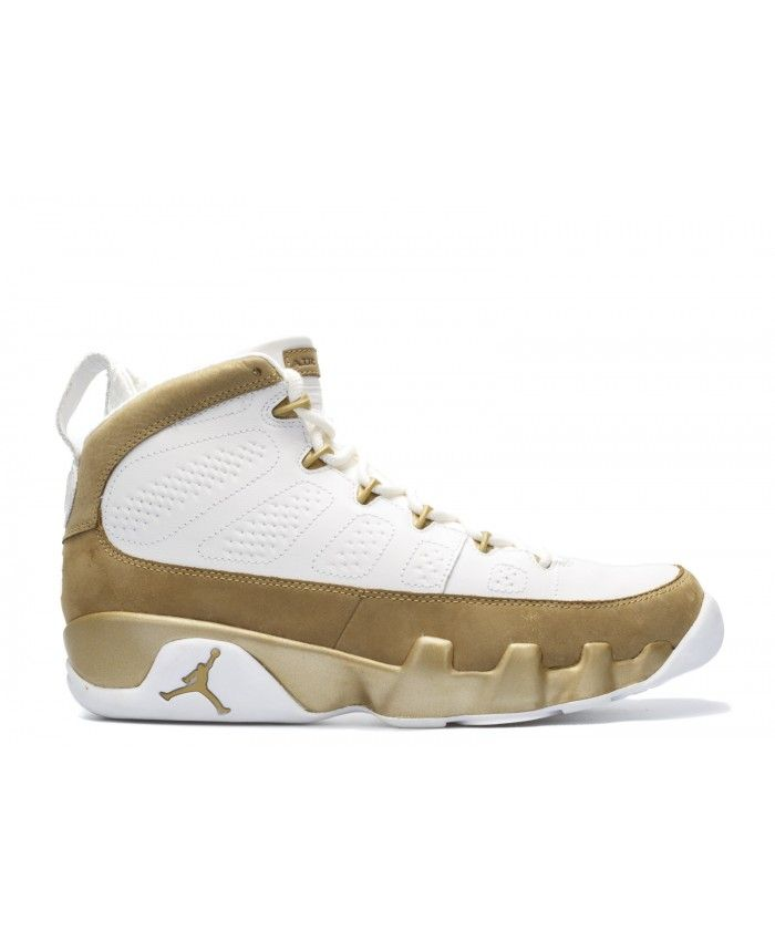 Air Jordan 9 Retro Premio Bin23 White Metallic Gold 410917 101