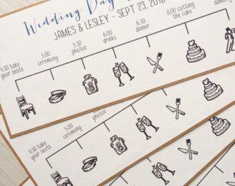 wedding time line