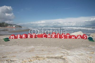 Merry Christmas on stones