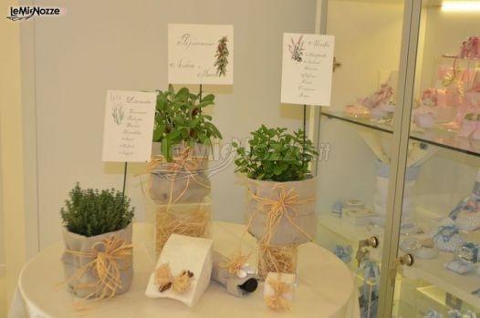http://www.lemienozze.it/operatori-matrimonio/bomboniere/i-confetti-di-rosemarie/media/foto/1 Tableau con erbe aromatiche