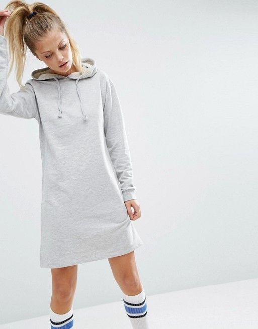 ASOS | ASOS - Robe courte style sweat à capuche