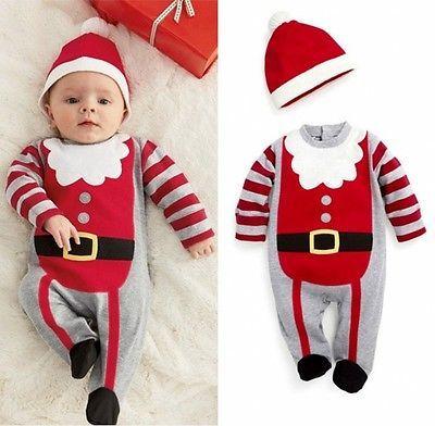 b40c7224869b Best Christmas Newborn Baby Girl And Boy Winter Bodysuit Christmas ...