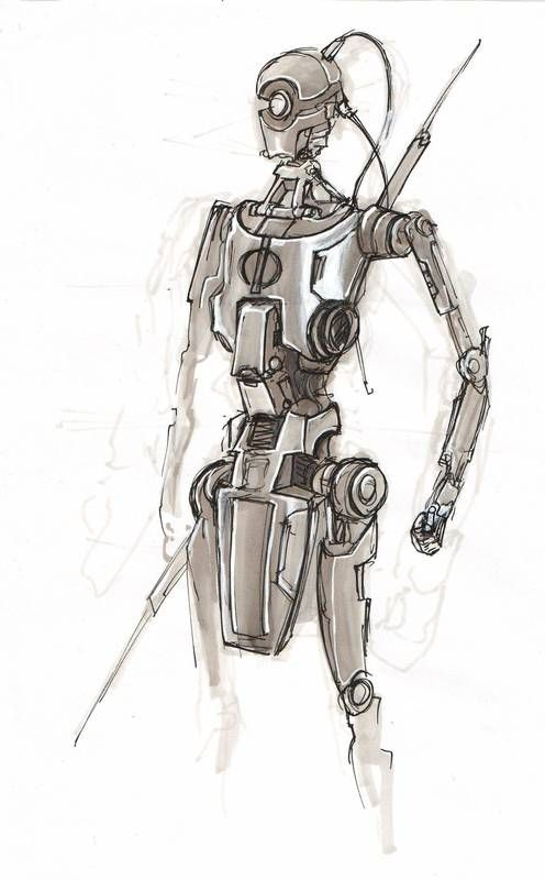 21 best images about doug chiang on pinterest robots search and the star - Robot blanc star wars ...