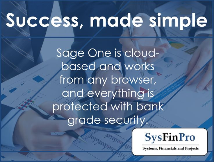#Sage One is cloud based which means you can access it from anywhere, with bank grade security so you information is safe. Contact #SysFinPro for more information at info@sysfinpro.co.za