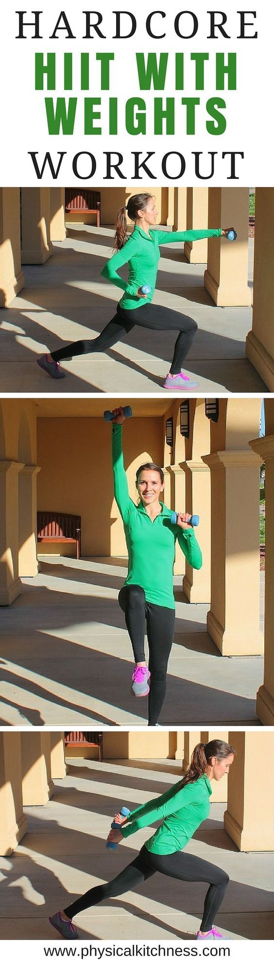 25 Minute HIIT Workout // 10, 30-second intervals with hand weights #strong #fitness #burnbabyburn