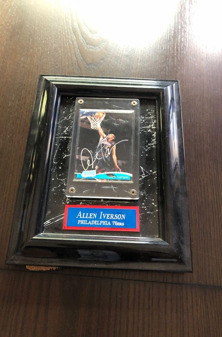 Allen iverson autographed trading card on mercari allen