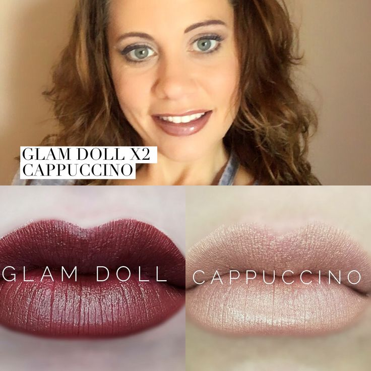 Glam doll is beautiful layered today with cappuccino LipSense is amazing with so many options and great colors