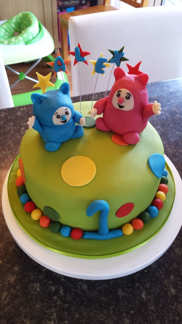 Boy's first birthday cake - Billy and Bam bam