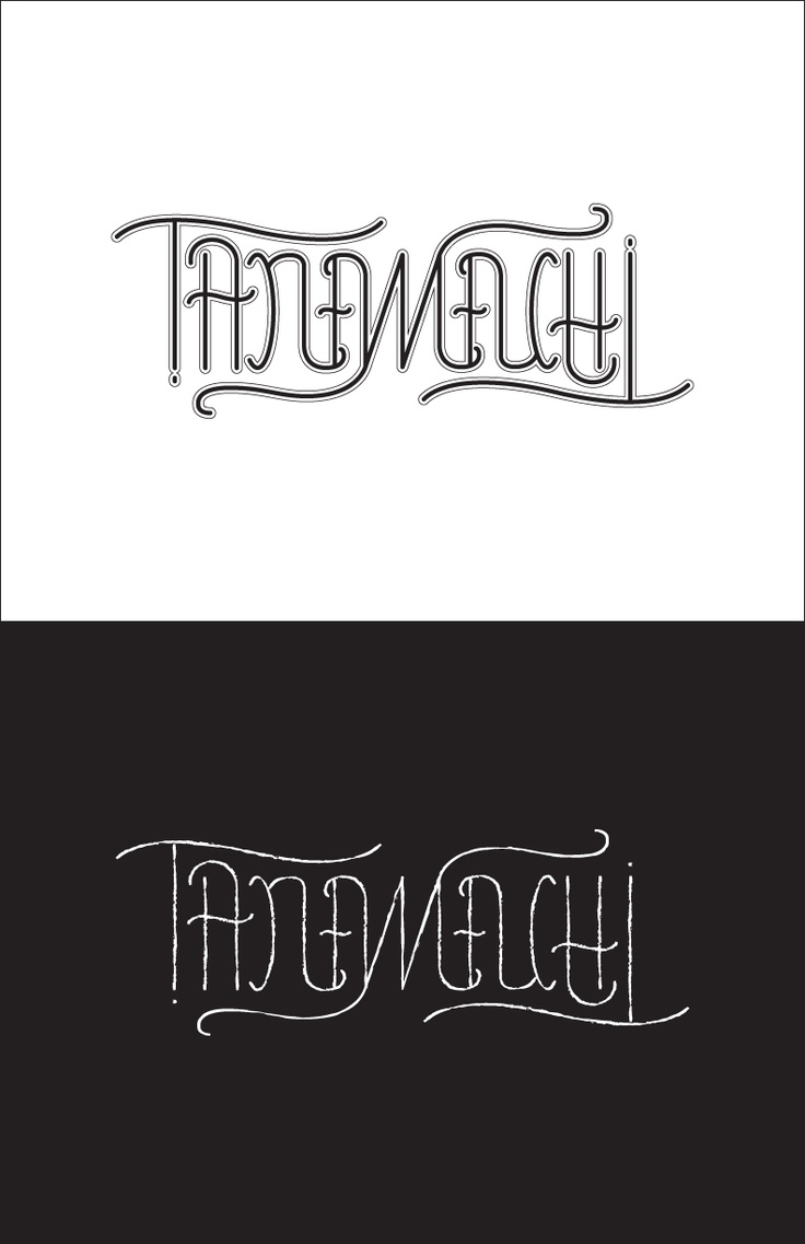 After dana tanamachi s inspiring aiga in nyc i created an ambigram homage to her and