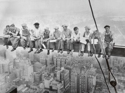 "Love, love, love this 1932 ""Lunch Atop A Skyscraper""."
