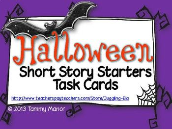 Help students write scary stories with these Halloween Short Story Starters Task Cards. They're a fun way to get a little creative on Halloween.