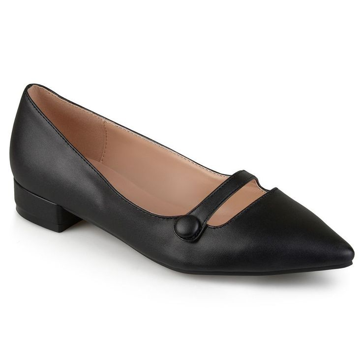 Journee Collection Vasha Women's Pointed Dress Shoes, Size: 7.5, Black