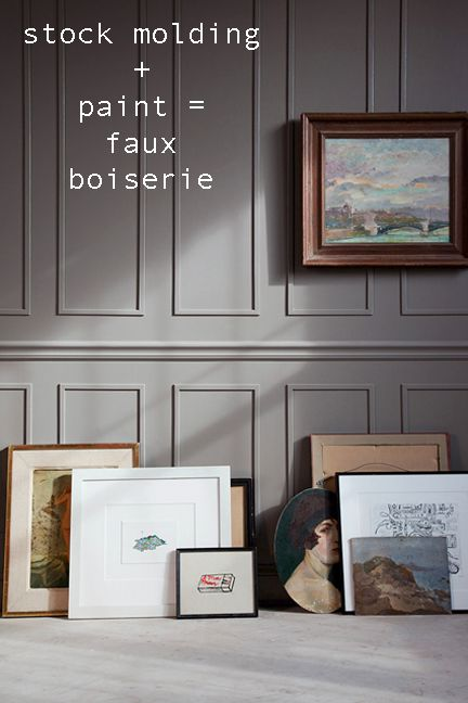 Boiserie    NOTE good -using miter box and designing size to fit on graph paper -mjm