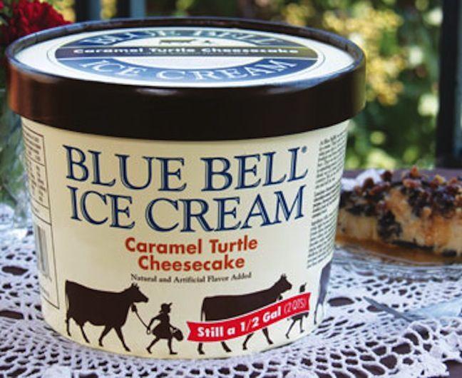 Blue Bell Ice Creams Caramel Turtle Cheesecake