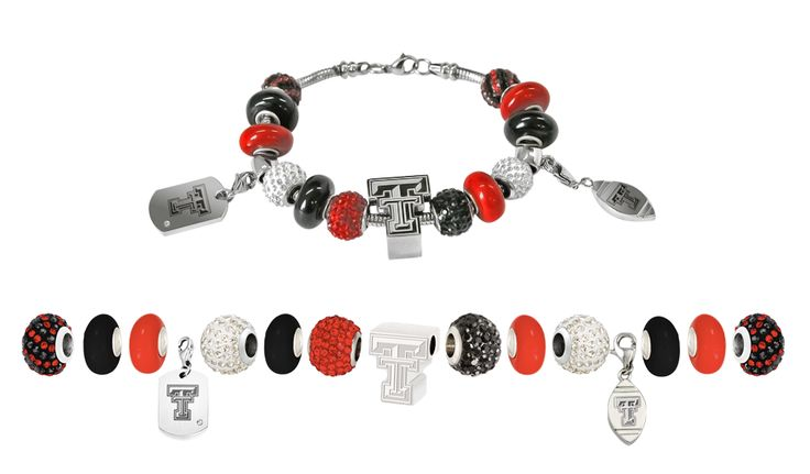 Beliza Design presents pre-constructed Texas Tech University charm bracelets and Texas Tech University beads and charms! Available at www.belizadesign.com