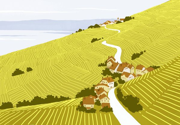 Landscapes by Pierre-Abraham Rochat, via Behance
