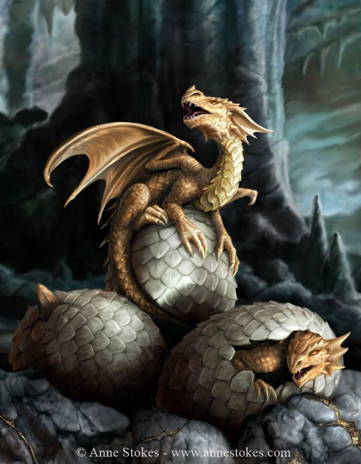Golden Treasures by Anne Stokes. She does some lovely dragon artwork.                                                                                                                                                      More