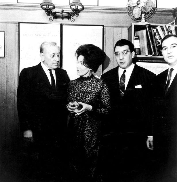 Real East Enders: Freddie Foreman with the late actor George Raft, Ronnie Kray and Mrs Foreman