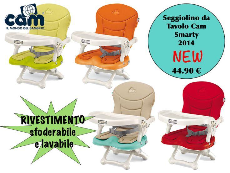 Seggiolino da Tavolo Cam Smarty 2014 New a 44.90 €!! http://www.lachiocciolababy.it/bambino/seggiolino_da_tavolo_cam_smarty_new_2014-6476.htm
