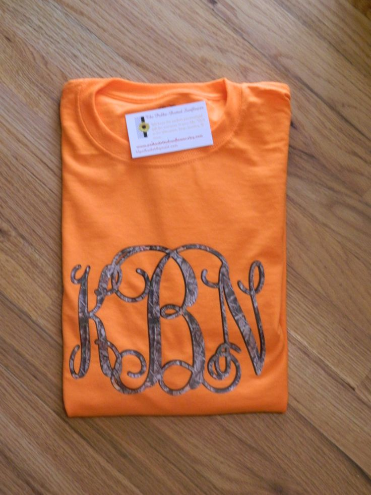 Camo Monogrammed T-Shirt - Available in short or long sleeve -Big-N-Bold Camo Monogram - Preppey Spirit Jersey by PolkaDottedSunflower on Etsy