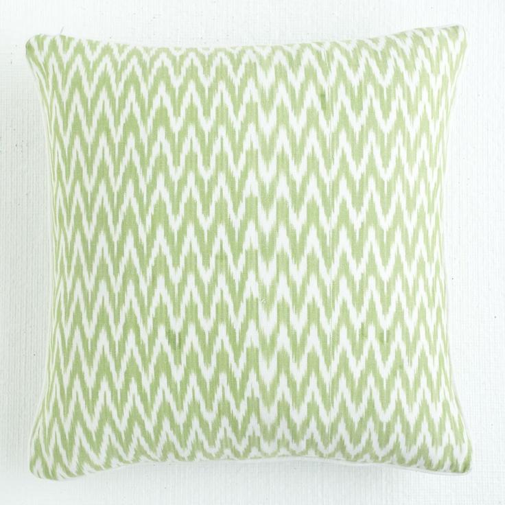 Green Ikat Throw Pillow : W7633 Zigzag Green Ikat Pillow Pillows & Cushions home Pinterest Pillows, Green pillows ...