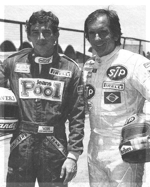 Ayrton Senna e Emerson Fittipaldi