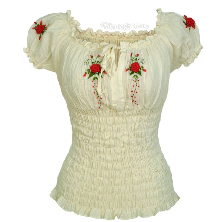 Rose Maiden Corset Blouse Short Sleeve. Could make this from a peasant blouse pattern. Cute.