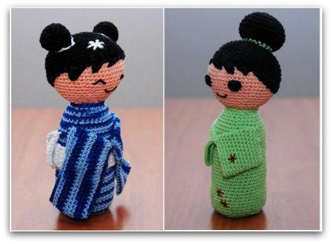 Amigurumi Doll Free Pattern : Best amigurumi kokeshi images kokeshi dolls
