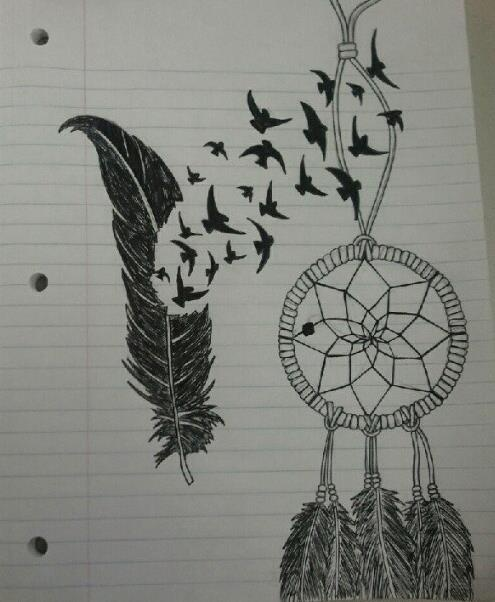 Feather And Dream Catcher Drawing Want To Try And Draw