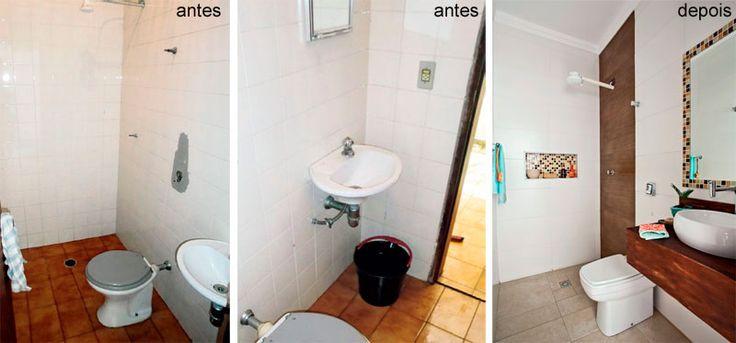 193 melhores imagens sobre banheiro no pinterest - Reforma piso pequeno ...