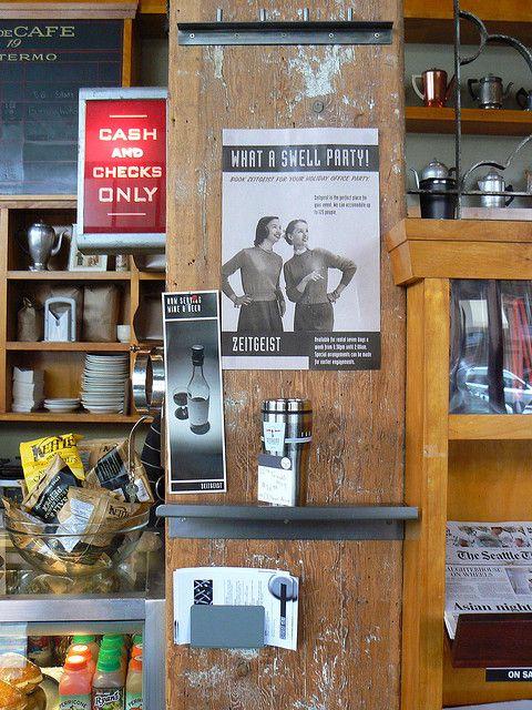 counter Zeitgeist Kunst & Kaffee, S Jackson St | Flickr - Photo Sharing!