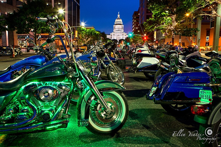 """500px / Photo """"ROT Rally Texas State Capitol"""" by Ellen Yeates...longest bike parade on record"""