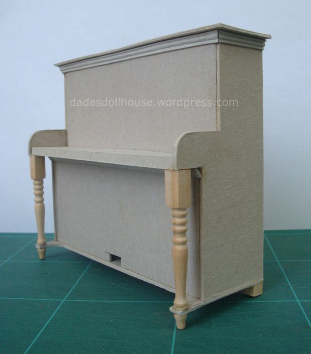 Tutorial for miniature upright piano for dollhouse music room