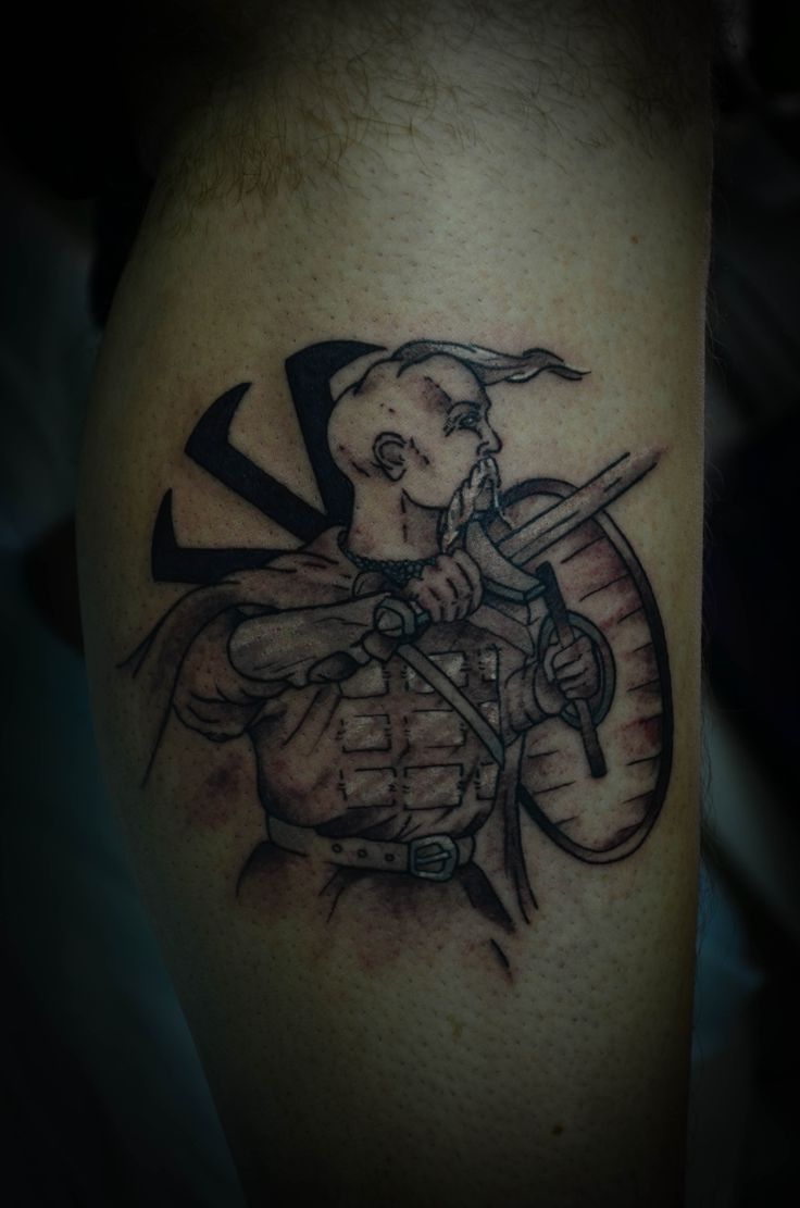 Kozak, ukrainian tattoo