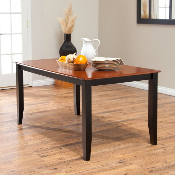 Have to have it. Boraam Bloomington Dining Table - Black/Cherry - $204.99 @hayneedle