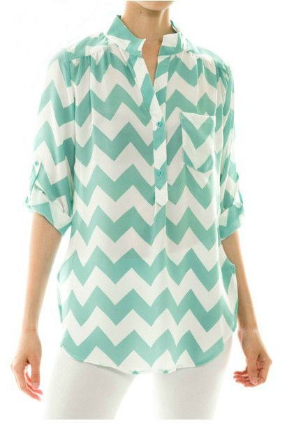 ALL AMERICAN GIRL Mint Chevron Stripe Tunic Shop Simply Me Boutique – Simply Me…