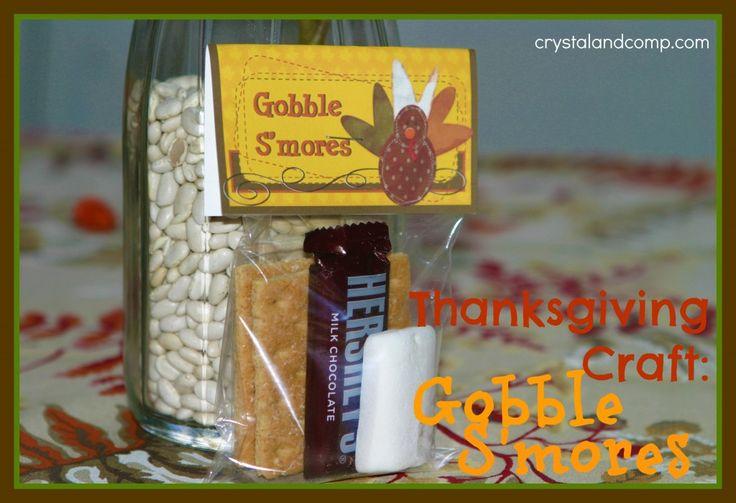 Thanksgiving Crafts: Gobble Smores (free printable)
