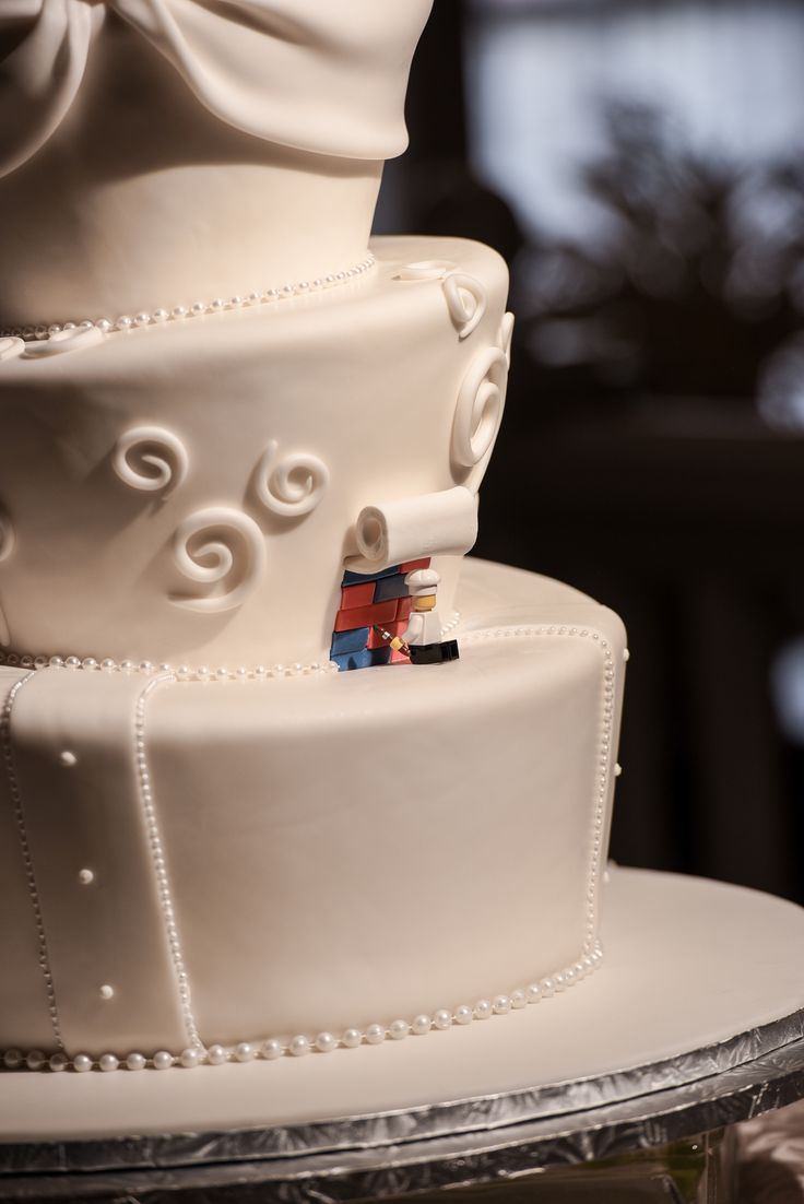 Putting the last minute LEGO blocks into place on this Walt Disney World cake