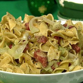 Michael Symon's Corned Beef and Noodles with Cabbage #TheChew #StPatricksDay #CornedBeef