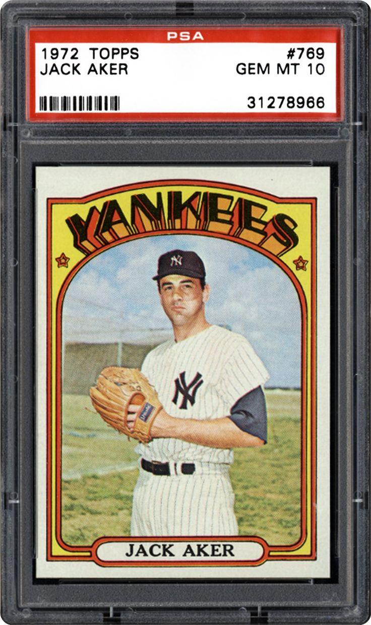 1972 topps 769 jack aker baseball cards baseball