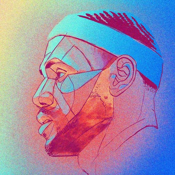 LeBron James 'Neon King' Portrait