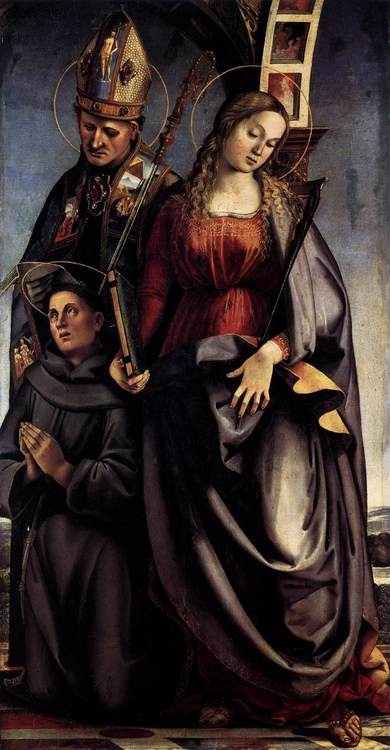 Luca Signorelli, Sant'Agostino Altarpiece (Right Wing), c. 1498