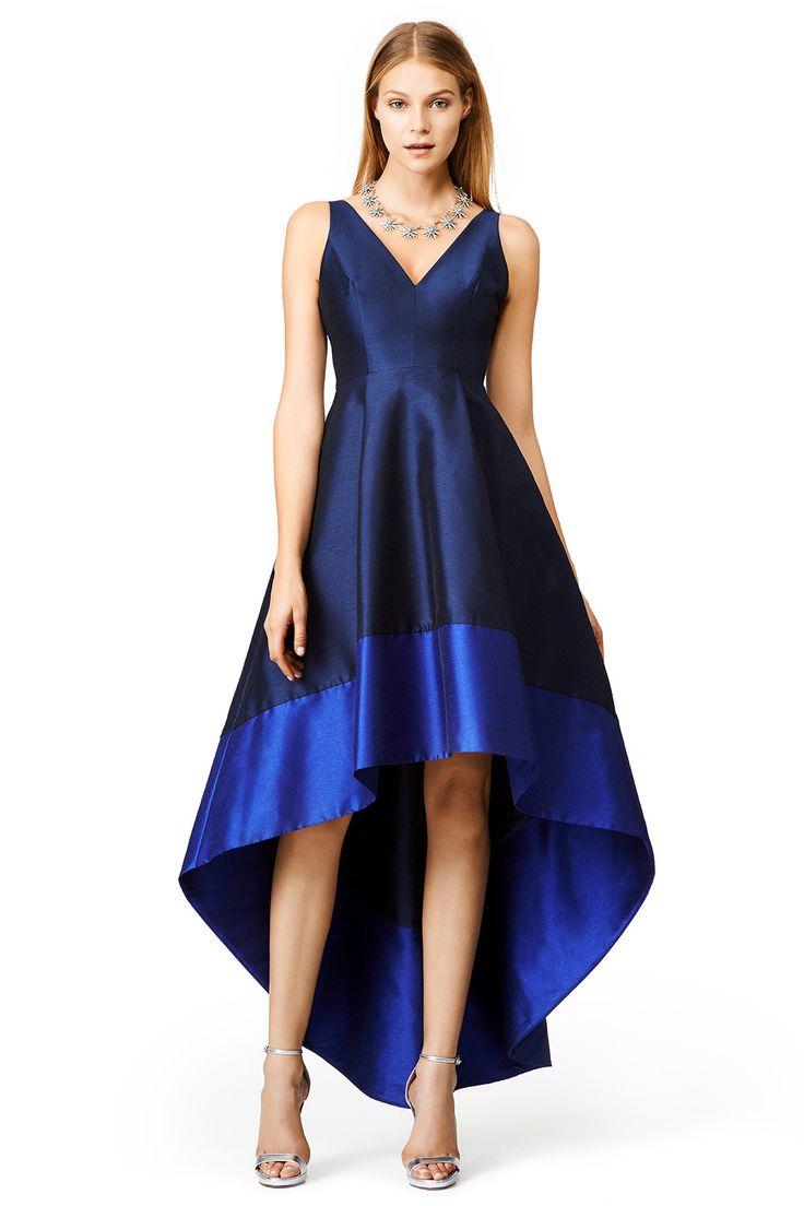 Monique Lhuillier Asymmetrical Ruched Cocktail Dress