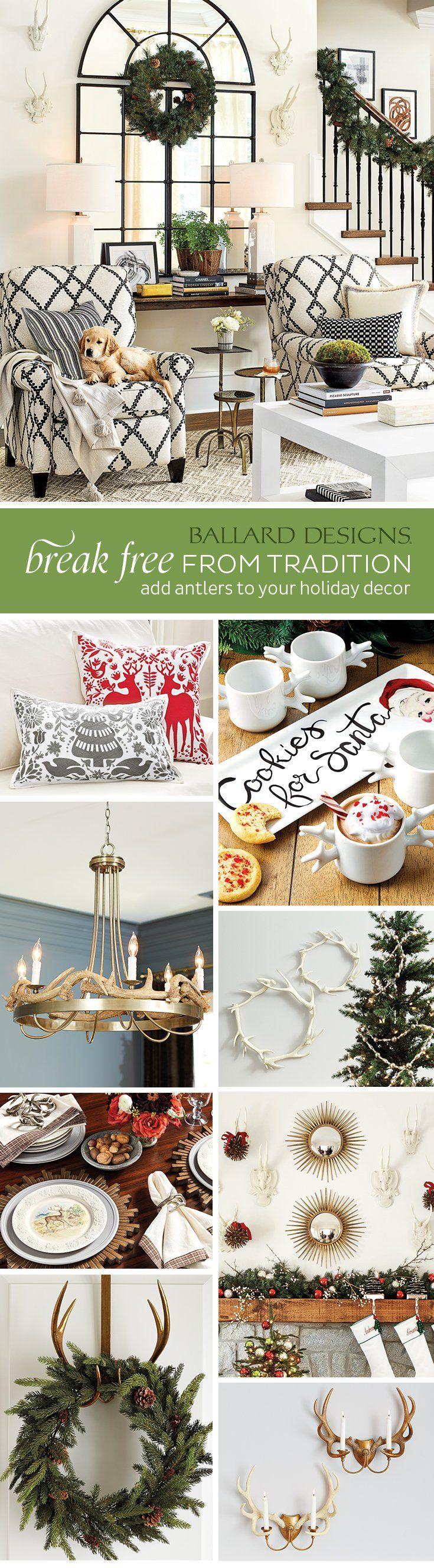 Antler Holiday Decor Ideas - Ballard Designs