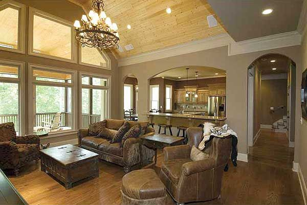 Split bedroom craftsman home plan - House plans lots of windows ...