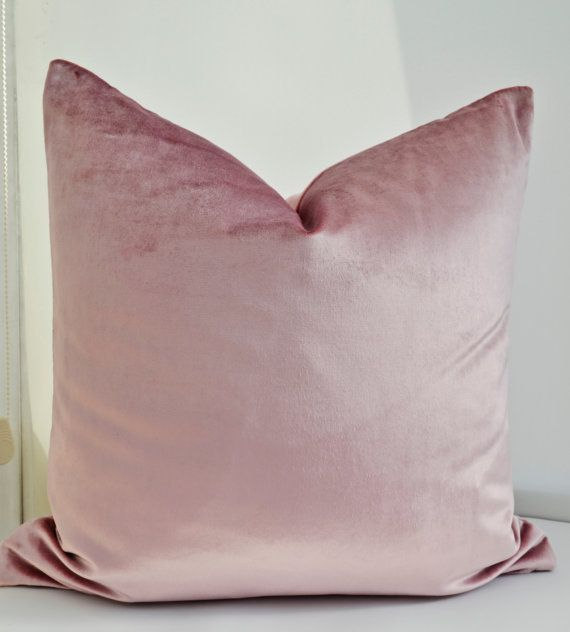 $55.00 22 Velvet Pillow Cover Pink Velvet Pillow Cover by LaletDesign