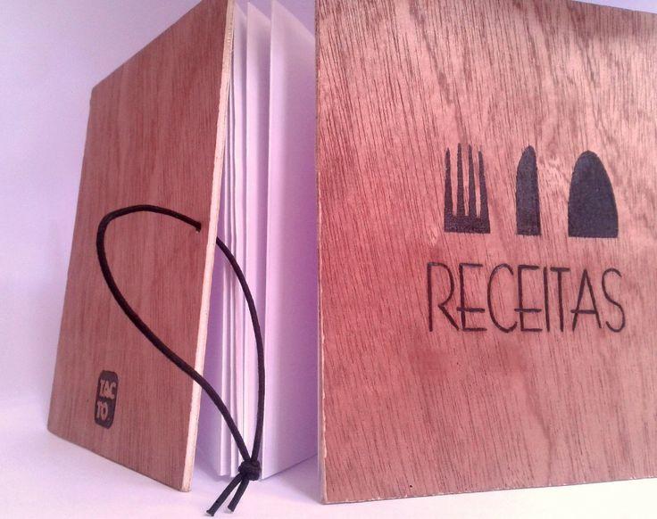"""El estudio creativo COMPONTE con su línea de Cuadernos TACTO también trabaja por encargos; éste es un Recetario para un cliente Portugués. """"RECEITAS"""". Contacto: https://www.facebook.com/cuadernostacto"""