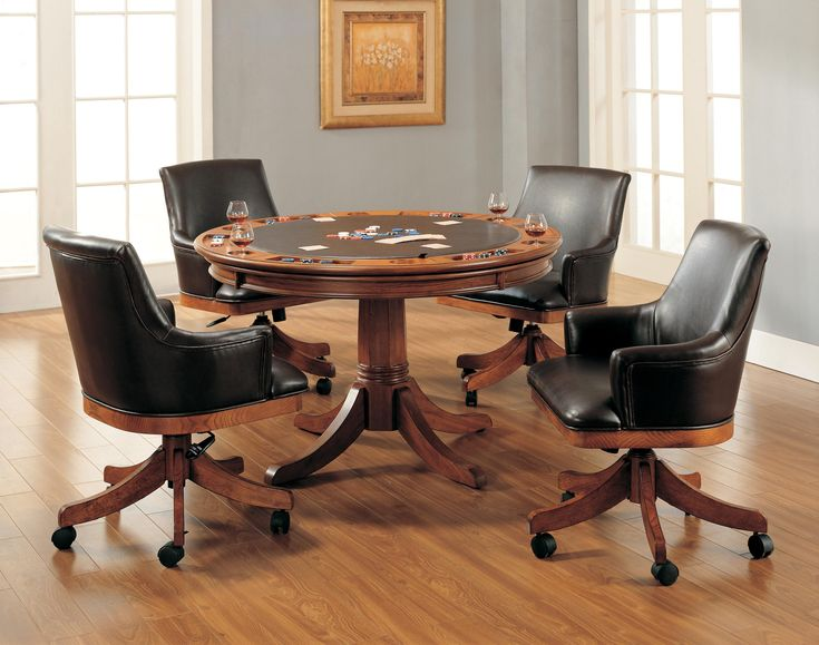 Kitchen Tables Game Table Sets With Caster Chairs Interor